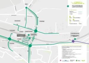 Poglądowy schemat układu drogowego wykonywanego w ramach inwestycji.