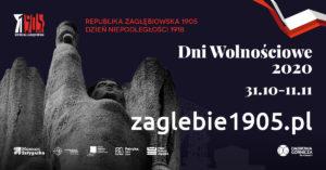 Pomnik Bohaterów Czerwonych Sztandarów - Dni Wolnościowe 1905-2020 - flaga Polski