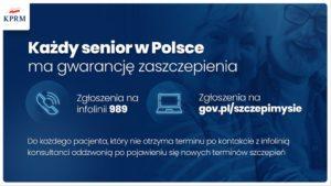 każdy senior w Polsce ma gwarancję zaszczepienia