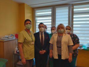 zespół ZCO Dąbrowa Górnicza - inauguracja szczepień przeciw Covid-19