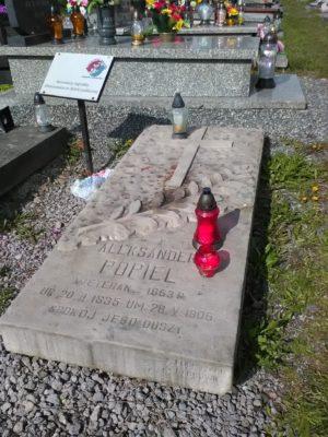 Grób Aleksandra Popiela w Dabrowie Górniczej